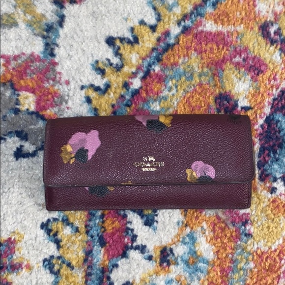 Hand painted Coach wallet